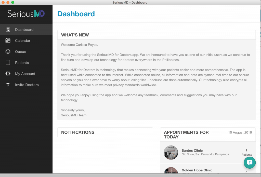 SeriousMD Dashboard