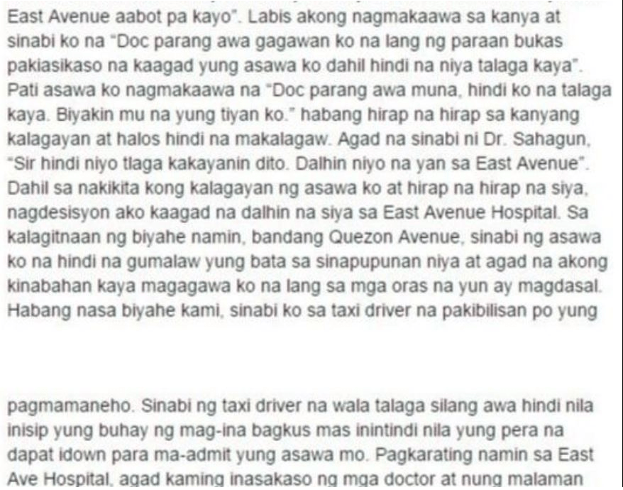 Andrew Pelayo Facebook post