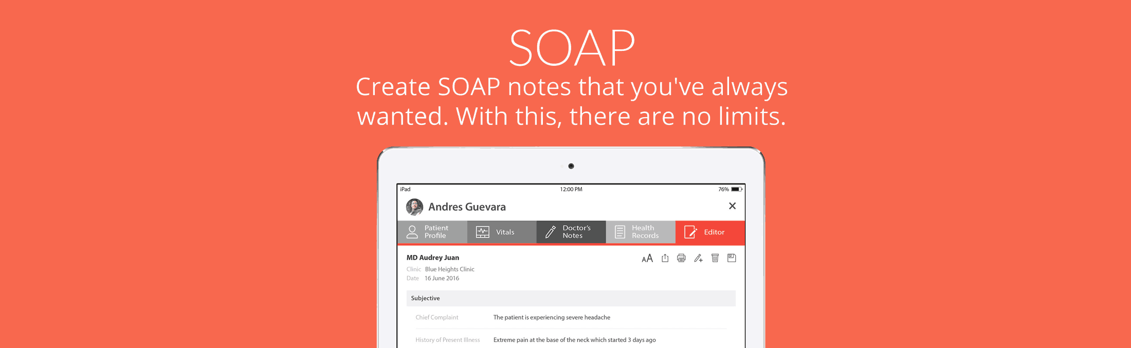 SeriousMD SOAP Note Doctor note templates