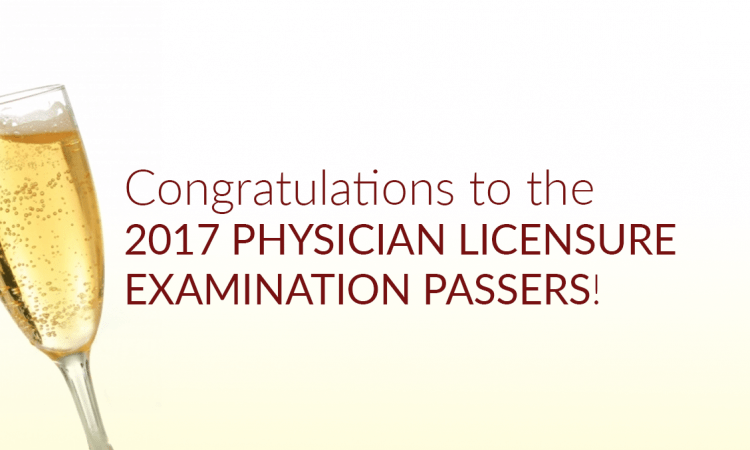 physician licensure examination passers 2017