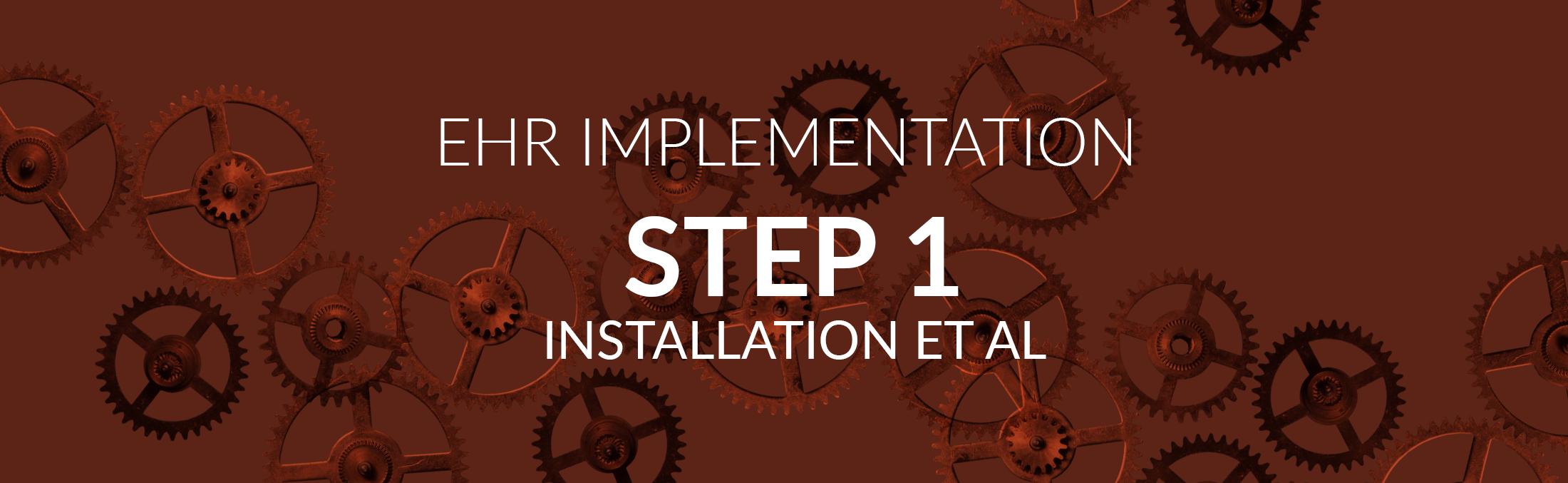 EHR implementation step 1