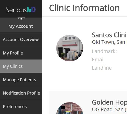 SeriousMD My Clinics