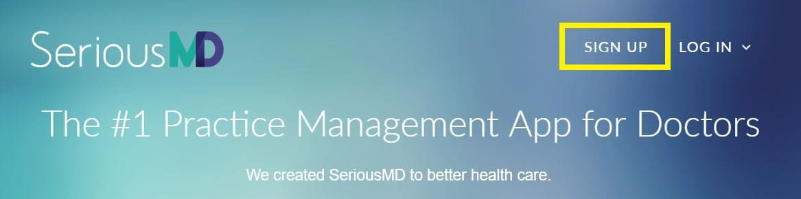 SeriousMD EHR signup