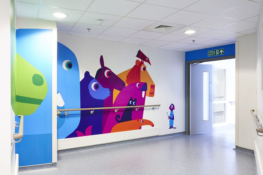 London Children's Hospital - Chris Haughton mural