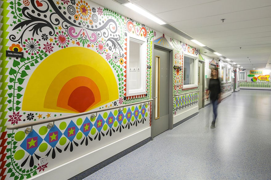 London Children's Hospital - Morag Myerscough mural