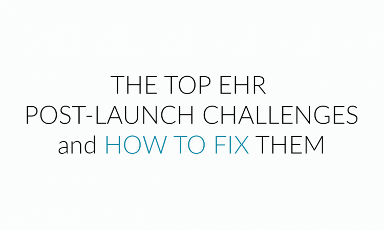 EHR post-launch challenges fixes