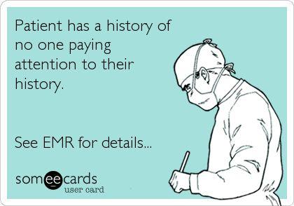 EMR Chart Joke