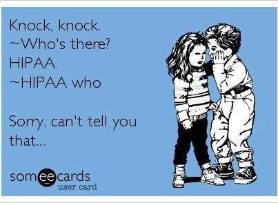 HIPAA Funny Joke