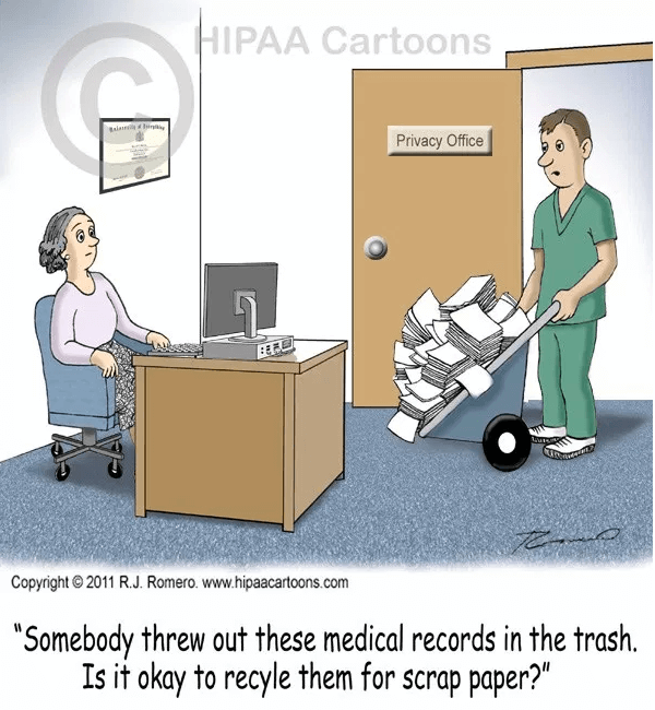 Recycle paper medical records