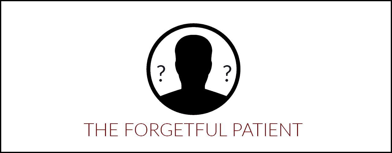Forgetful patient icon