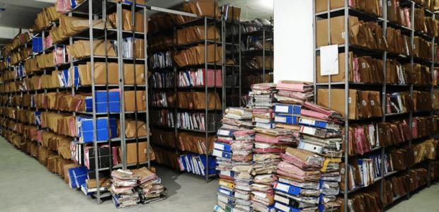 paper storage piles