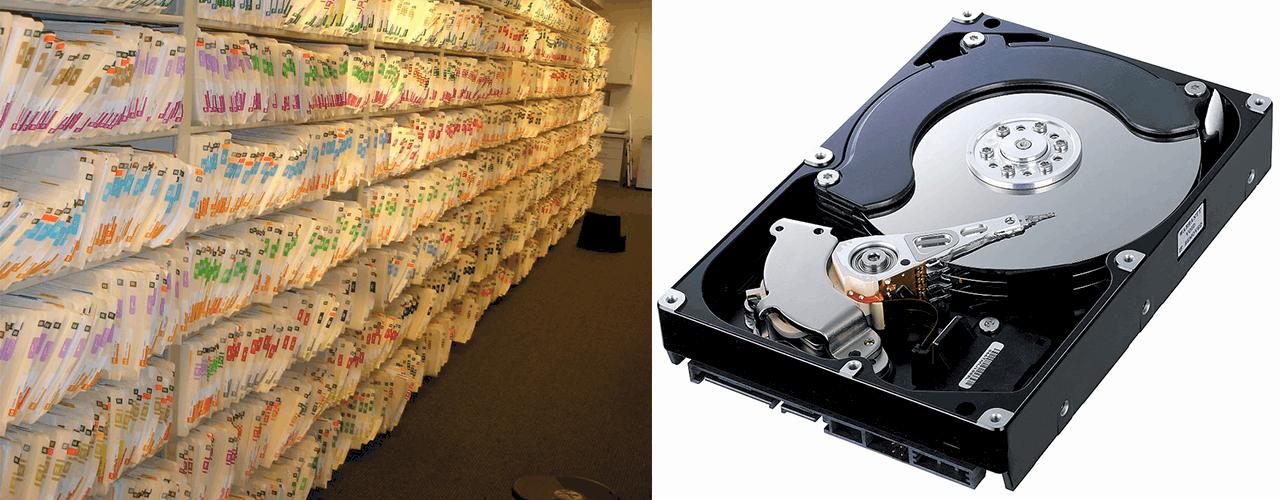 paper vs hard drive