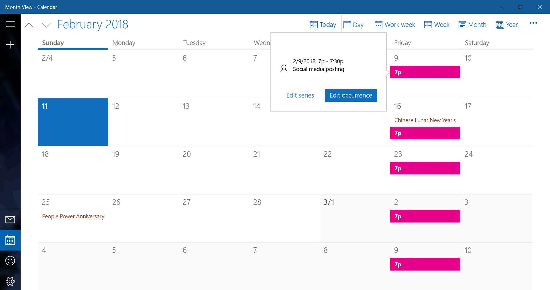 Scheduling social media posting