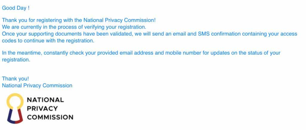 NPC Data Privacy Act Email Phase 1 Phase 2