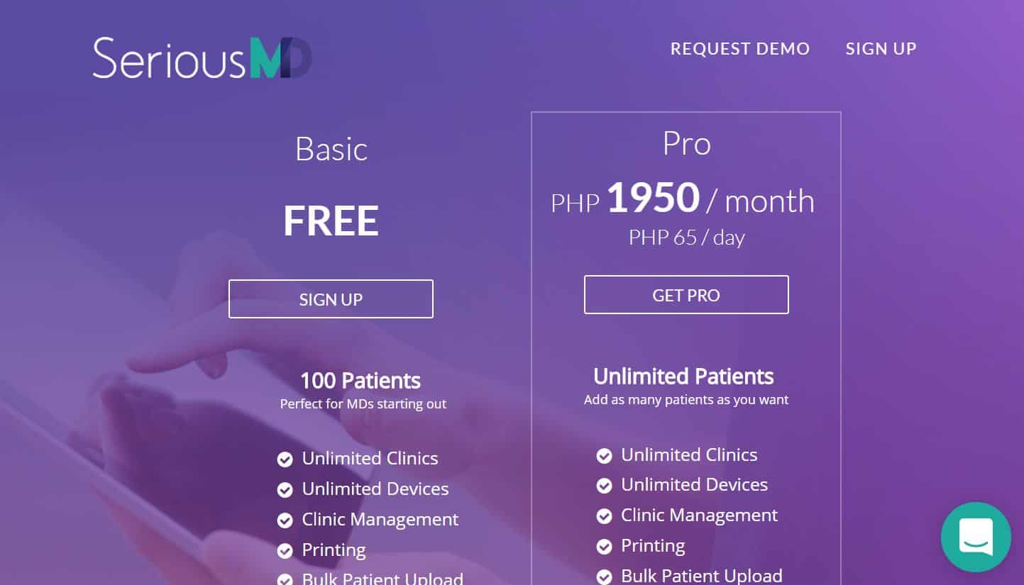 SeriousMD pricing versions