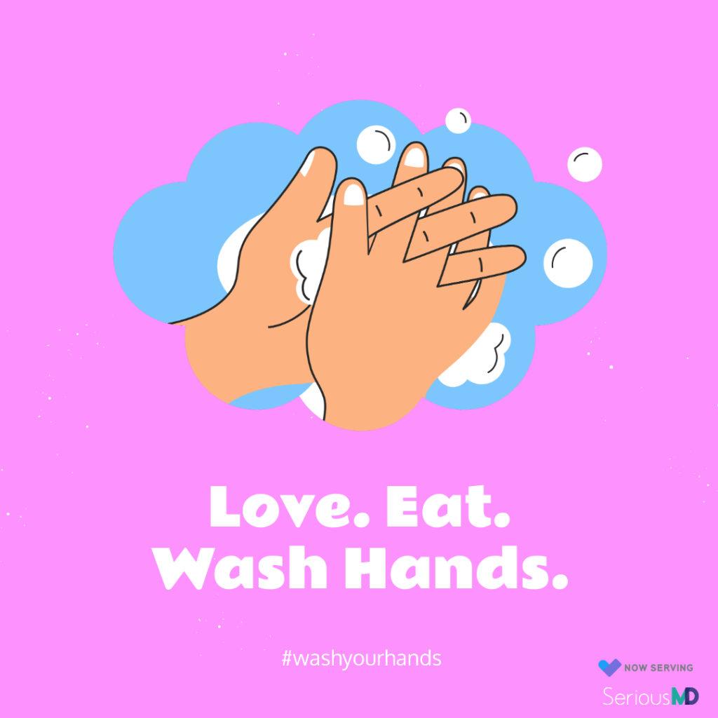eat wash hands