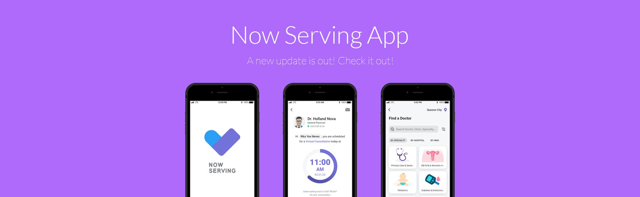 Now Serving app Update