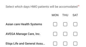 hmo clinics